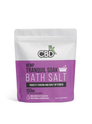 Hemp CBDfx Bath Salts Tranquil 100mg