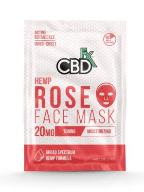 CBDfx Hemp Rose Face Mask