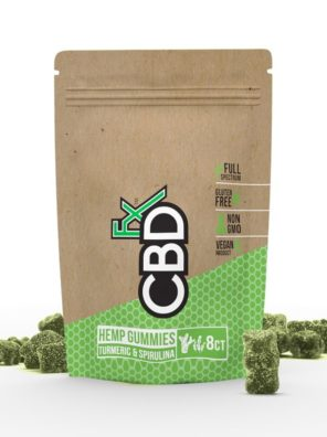 CBDfx Gummies with Turmeric & Spirulina 40mg (8ct Pouch)