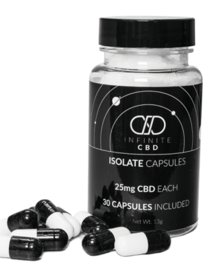 CBD Isolate Capsules 100mg 30COUNT